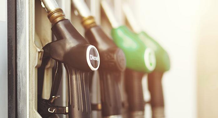 diesel à la station essence