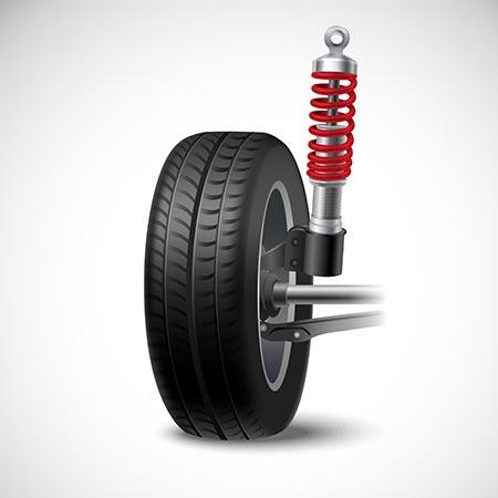 dessin suspension auto